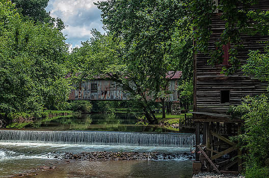 Kymulga Covered Bridge And Mill by Phillip Burrow