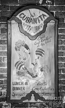 Ian Monk - La Cubanita Restaurant Key West - Black and White