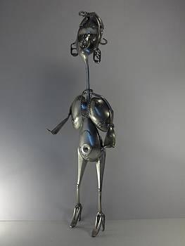 La femme Cougard by Dalu sculpteur Anticonformiste