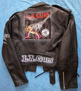 L.A Guns airbrushed leather jacket by Danielle Vergne