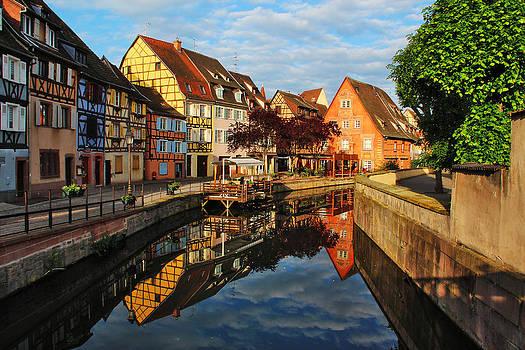 La Petite Venice Reflections in Colmar France by Greg Matchick