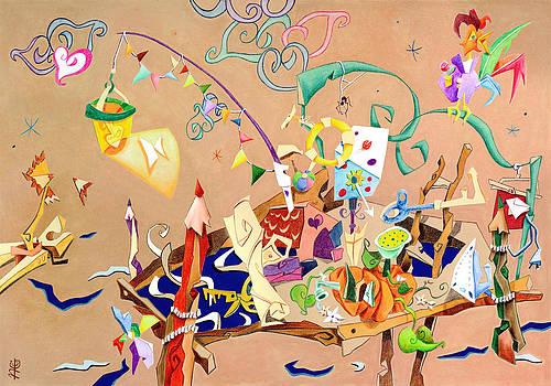 Arte Venezia - La STaNZa Dei GioCaTToLi - Children Illustration Wallpaper