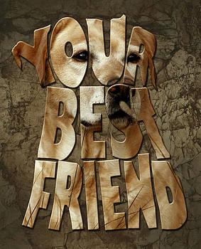 Labrador Retriever typography artwork by Costinel Floricel