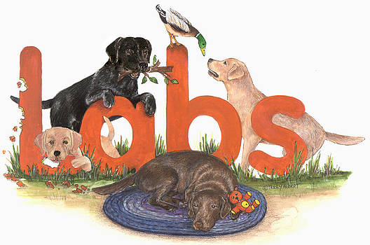 Labs at play by Terry Albert