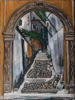 Lacones village in Corfu  by Ina Gerogianni