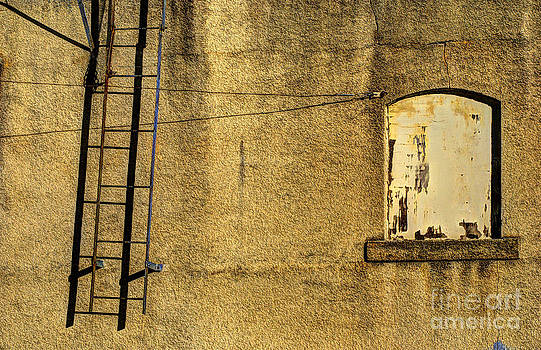 Ladder and window by Jim Wright