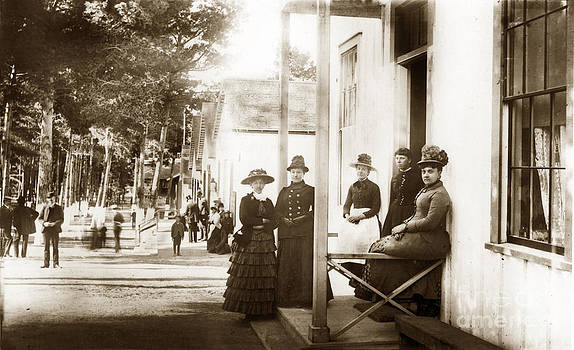 California Views Mr Pat Hathaway Archives - Ladies on Grand Avenue looking down from Lighthouse Ave. Circa 1880