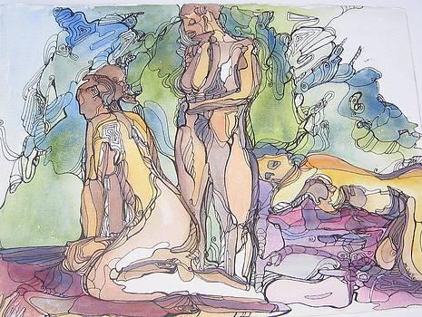 Ladies with green background by Michelle Gonzalez