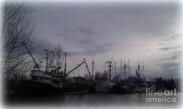 Ladner Harbour in Winter by Victoria Heryet