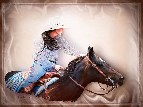 Lady Barrel Racing 1 by Char Doonan