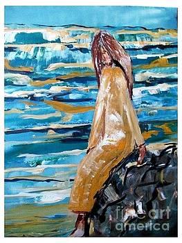 Lady by Ocean by Joseph Wetzel