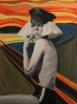 Lady Gaga In Scream by Jennifer Hayes