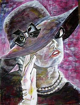 Lady In Gloves by Linda Vaughon