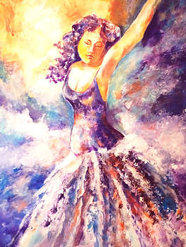 Lady in purple by Patricia Rachidi