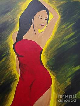 Lady in Red by Carlos Alvarado