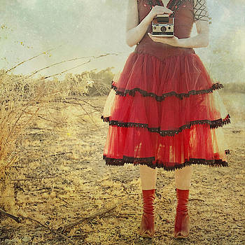 Lady in Red by Whimsy Canvas