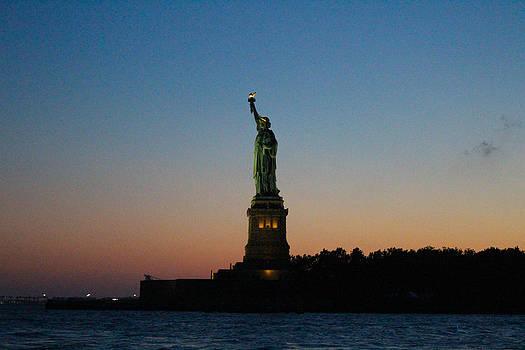 Lady Liberty at Sunset by Tammy Kuiper