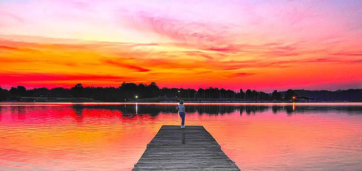 Randall Branham - lady pier end red sundown