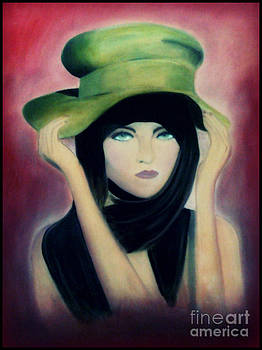 Lady with a Green Hat by Angie Staft