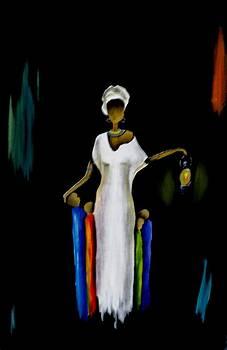 Lady with a lamp by Marietjie Henning