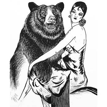 Lady with Bear by Heather Pecoraro