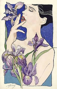 Alfred Ng - lady with blue irises
