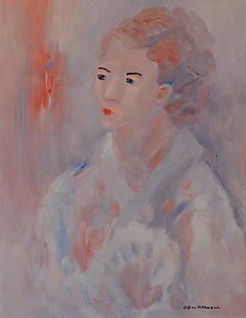 Lady with Fan by Bettye  Harwell