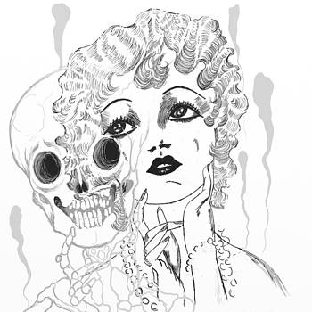 Lady with Pearls by Heather Pecoraro