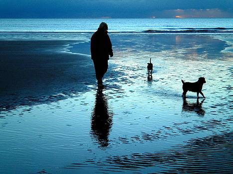 Lady with the little dogs by Russ Murry