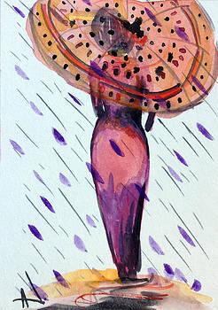 Patricia Lazaro - Lady with Umbrella Polka Dot