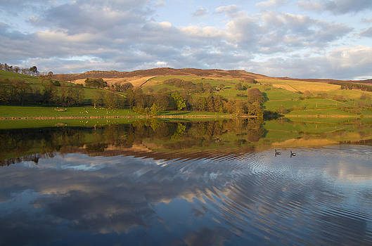 Ladybower - reflections and ripples by Pete Hemington