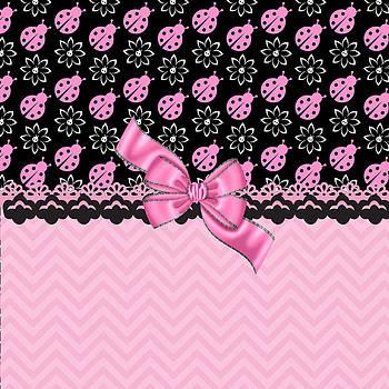 Pink Ladybugs Daydream by Debra  Miller