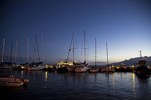 Lahaina Harbor At Dusk by Terry Hollensworth-Rutledge
