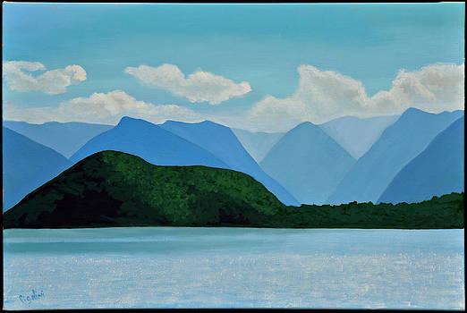 Lake and Mountains by Gloria Cigolini-DePietro