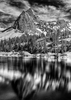 Lake Blanche black and white by Kevin Rowe