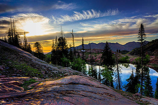 Lake Blanche Sunset by Kevin Rowe
