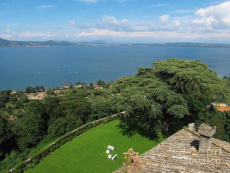 Lake Bracciano Panoramic view by Kiril Stanchev