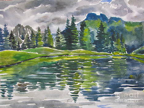 Lake in the Mountains by Anna Lobovikov-Katz