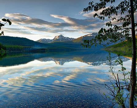 Lake Kentla in Glacier National Park Montana by Donna Caplinger
