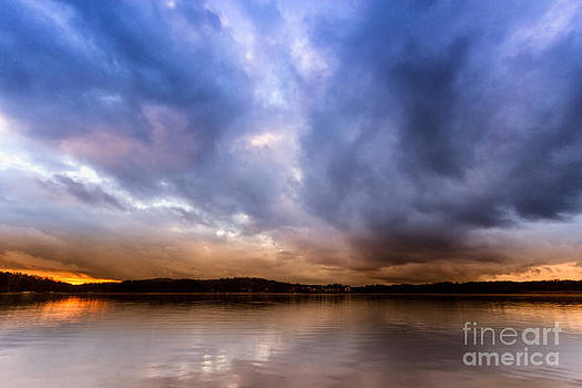 Lake Lanier sunset by Bernd Laeschke