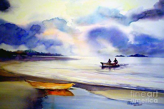 Lake Malawi Reflections by Shirley Roma Charlton