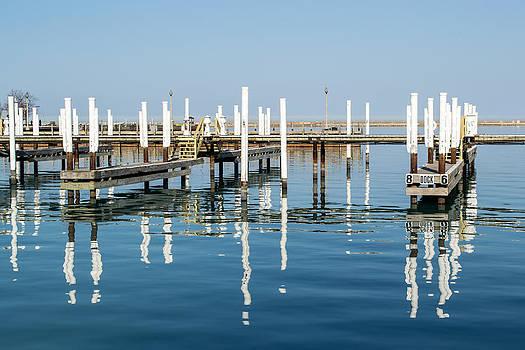 Lake Michigan Boat Docks by Robert Painter