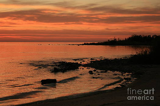 Lake Michigan Sunset by Kathy DesJardins