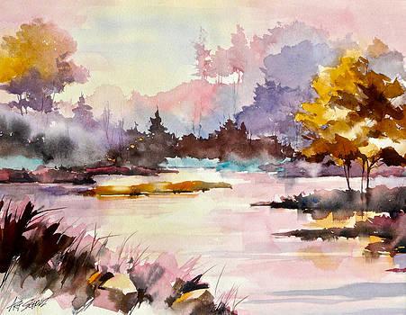 Lake Mist Color by Art Scholz