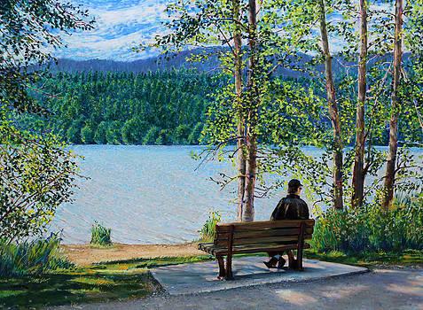 Lake Padden - Schwartz Bench by Nick Payne