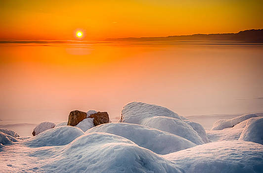 Lake Pepin Winter Sunrise by Mark Goodman