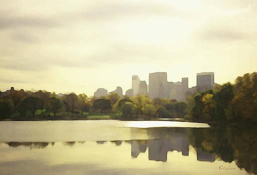 Lake Reflection Skyline 3 by David Klaboe