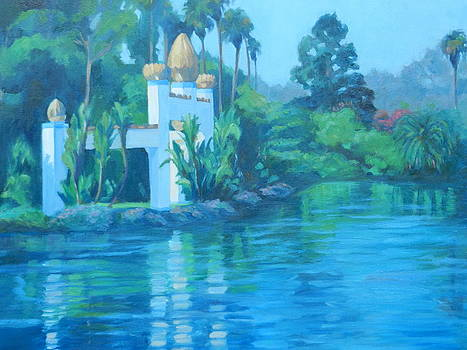 Lake Shrine Astral Blue by D Marie LaMar