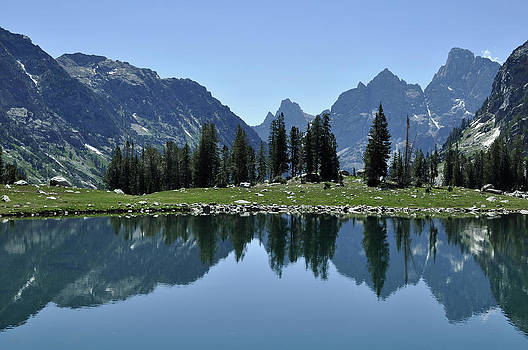 Lake Solitude in Grand Teton National Park by Bruce Gourley