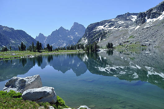Lake Solitude Shore in Grand Teton National Park by Bruce Gourley